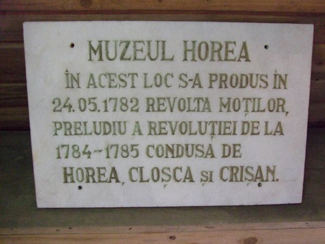 Museum of Horea - founded in  - director  - CÂMPENI, Alba - local - Istorie
